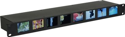 3G-SDI 8 LCD 1RU Rack Monitor from Delvcam with Individual Audio Meters