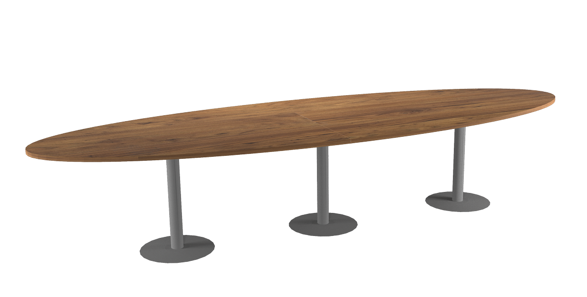 Tc 12x4 o 12 39 x 4 39 teamconference table oval table top for 12x table