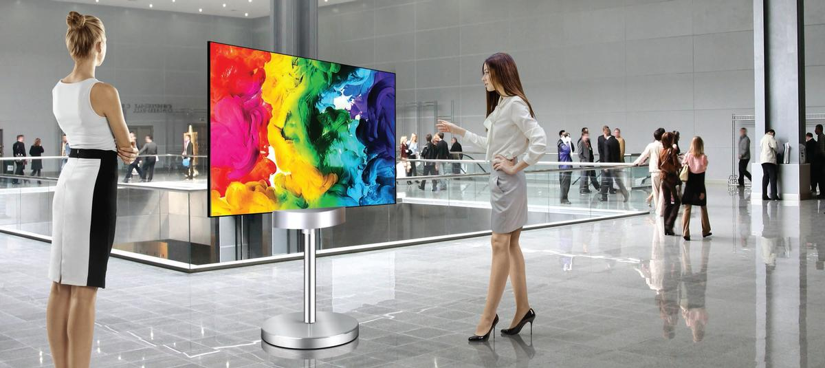 55eh5c S 55 Quot Dual View Flat Oled Digital Signage Display
