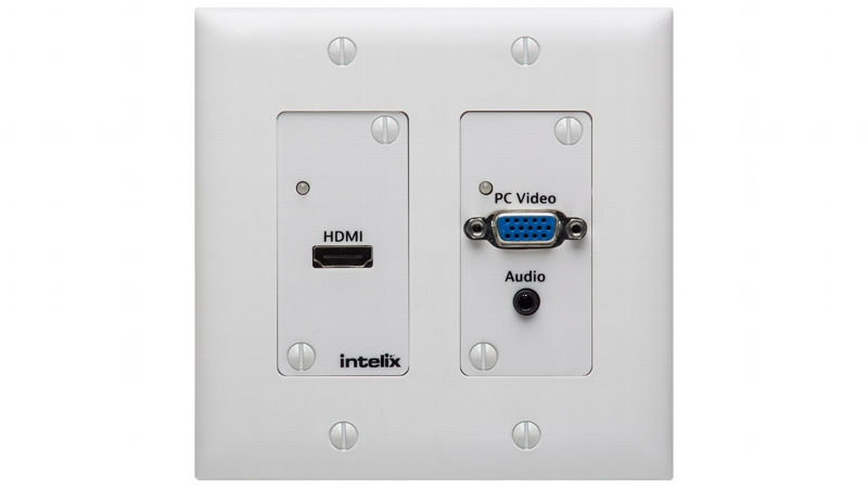 Asw Wp Hdmi Vga Auto Switching Wallplate With Hdbaset