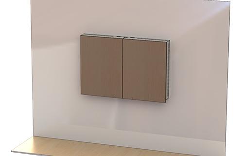 CAB60 | Locking Wall Mounted TV Cabinet | Audio Visual Furniture ...