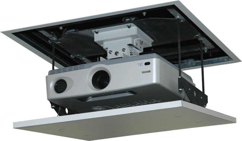 Projector ceiling lift ceiling projector lift vutec for Motorized ceiling projector mount
