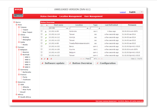 Barco - Collaboration Management Suite v1.4
