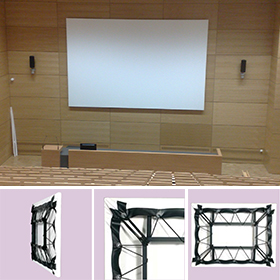 unique borderless fixed frame projection screen