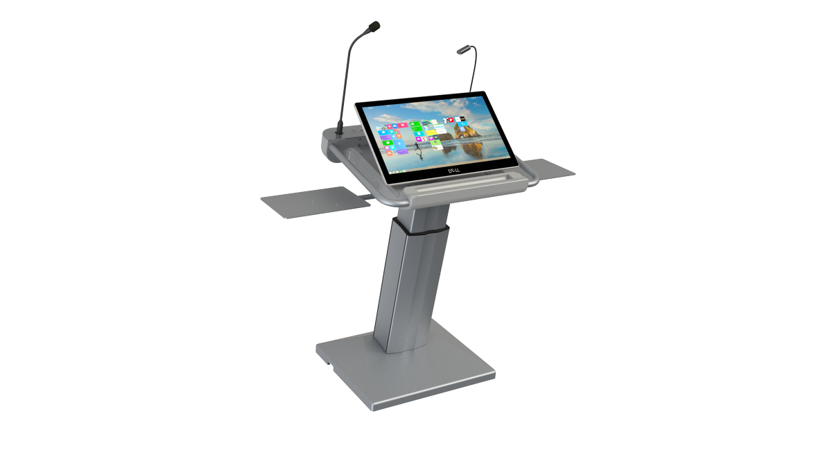ils synergy dt intelligent presidential lectern system with all in one touch pc folding stand. Black Bedroom Furniture Sets. Home Design Ideas