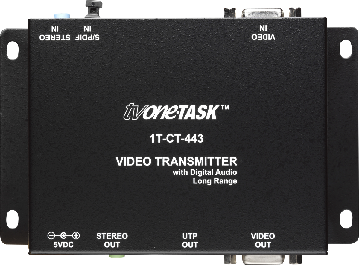 1t Ct 443 Cat5 6 Rgbhv Stereo Spdif Transmitter Up To 300m Av Matrix Switches Audio Video Switch Solutions 1000 Receiver