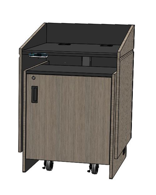 Podium Lift Mechanism : Lexyz electric lift lectern audio visual furniture