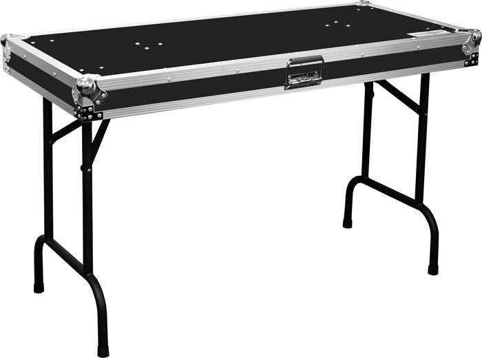 Ma table48 flight road case universal fold out dj table for Table exit fly