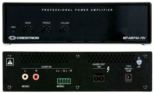 Mp Amp40 100v Media Presentation Audio Amplifier 100