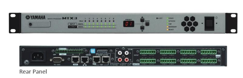 Mtx5d 2u matrix processor yamaha commercial audio for Yamaha commercial audio