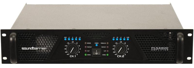 Pcs 3400 2 Channel 2900w Power Amplifier Sound Barrier