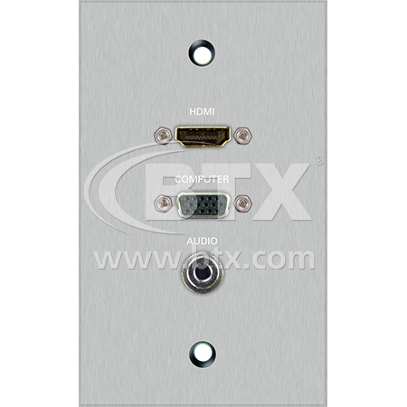 Pl Av19b 1 Gang Anodized Aluminum Wall Plate With Female