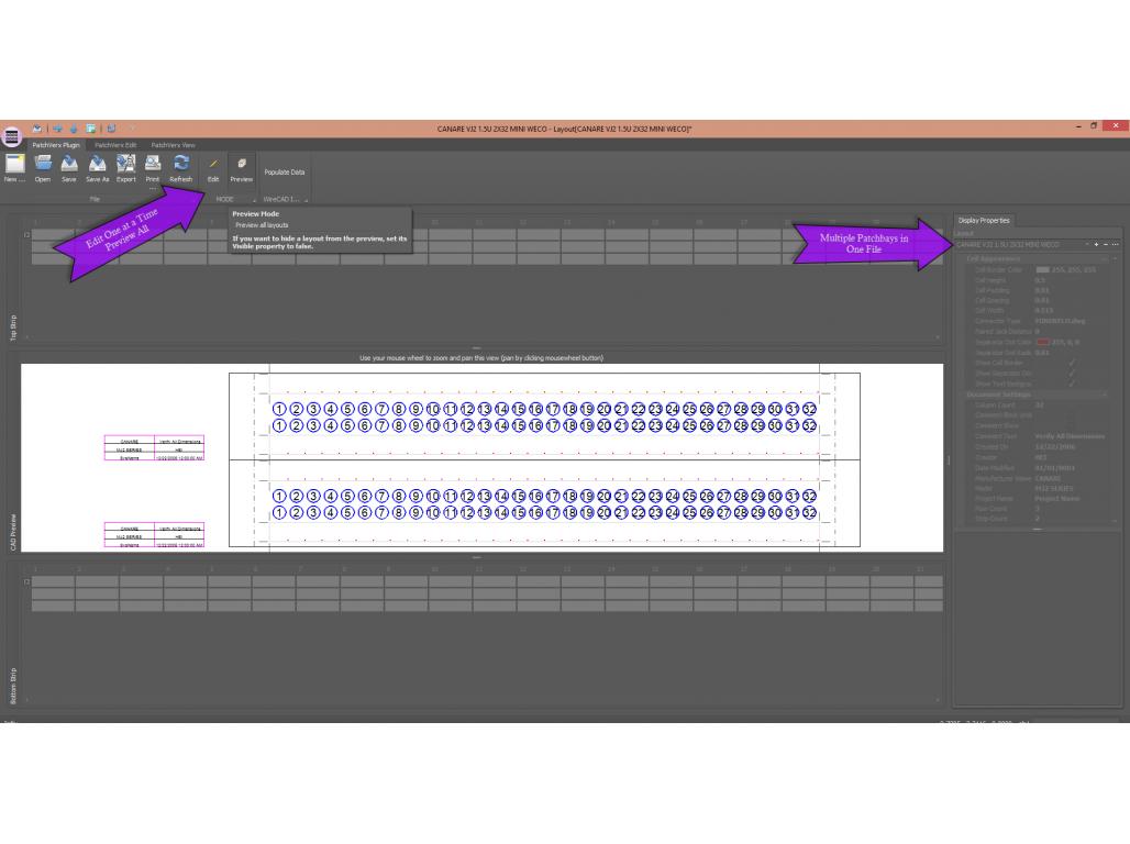 WireCAD - PatchVerx v4 Patchbay Label Creator