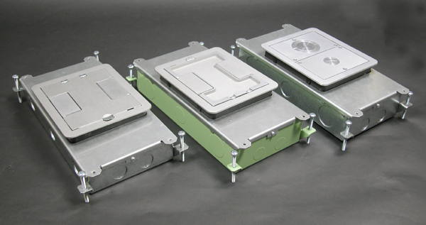 Captivating RFB2 | Two Compartment Single Or Multi Service Recessed Floor Box .