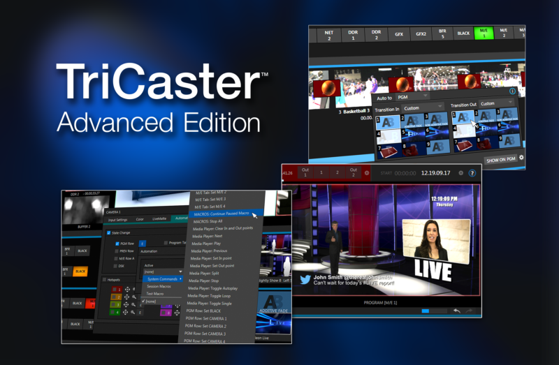 NewTek, Inc. - TriCaster Advanced Edition Software