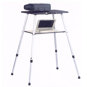 Telemaster lightweight projector table with four - Telescopic table legs ...