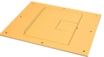 FL-500P Series Floor Box Flat Cover with Hinged Door, Light Oak Sandtex