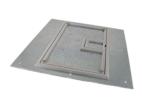 """FL-600P Series Floor Box Cover w/ Cable Exit Door - 1/4"""" Aluminum Carpet Trim"""