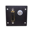 Wiremold Audio/Video Interface Plate, DVI F/F Barrel with 3.5mm Stereo and Solder Tabs