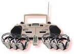 6-Person Wireless Cassette Recorder/Player Center