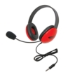 Listening First Stereo Headset with To Go Plug, Red
