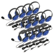 12-Pack Listening First Stereo Headset