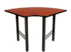 """30"""" 1/4-Round Flex Training Table with 4-glide"""