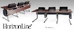 "88"" Width Triple HorizonLine® Laptop Table with FlipIT® FIL-18 Laptop Safe"