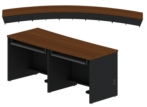 Curved Workstation with Laminate Modesty