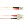 Multimode, 10-GbE 50-Micron OM3, Multicolored Fiber Optic Patch Cable, PVC, ST-MT-RJ, Pink, 30-m (98.4-ft.)