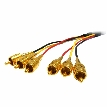 Plenum 3 RCA Audio/Video Cable (Yellow/Red/Black) 10ft.