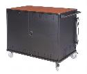 vLT30 Laptop Cart w/Value Cycle Timer,Balloon Wheels