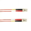 4-m, LC-LC, 50-Micron, Multimode, Plenum, Red Fiber Optic Cable