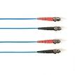 3-m, ST-ST, Single-Mode, PVC, Blue Fiber Optic Cable