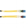 LockPORT Secure/Key Locking Single-Mode, 9-Micron, Duplex Fiber Optic Patch Cable, PVC, LC-LC, 15-m