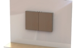 Locking Wall Mounted TV Cabinet