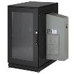 """ClimateCab NEMA 12 Server Cabinet with M6 Rails and 5000-BTU AC Unit, 24U, 230V, 51""""H x 28""""W x 31""""D"""