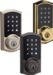 Kwikset SmartCode 916 Wireless Deadbolt with infiNET EX, Touch Screen Keypad, Polished Brass