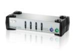 4-Port PS/2 KVM Switch, 1920 x 1440 Video Resolution