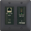 2 gang Decora™ style HDBaseT receiver wall plate with HDMI Output, Ethernet, RS-232, and IR - black