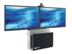 Elite series dual display videoconferencing stand