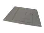 FL-500P Series Floor Box Solid Cover with Cable Exit, Gray