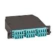 OM3 Fiber Optic Cassette (LGX) - Type B, (1) 24-fiber MTP® MPO-Style to (12) LC Duplex Pairs