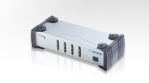 4-Port DVI Audio/Video Switch with IR Remote