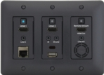 Cat5e/6/6A Audio/Video Distribution Wallplate-style Transceiver, Black