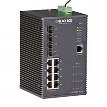Industrial Managed Gigabit Ethernet PoE+ Switch - 8-Port RJ-45, 4-Port SFP
