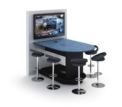 Stand-up Collaboration Table with Monitor Wall