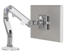 Clamp Mount Single Monitor Arm, Silver