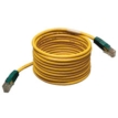 25ft RJ45 Male to Male Cat5e 350MHz Cross-over Molded Cable, Yellow