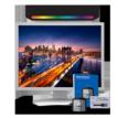 """21"""" 4:3 Color Accurate Desktop Monitor, White"""